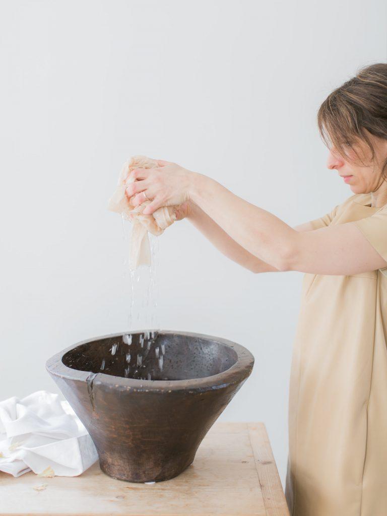 La Lettre Lint atelier handgemaakte zijden linten hand dyed silk ribbon