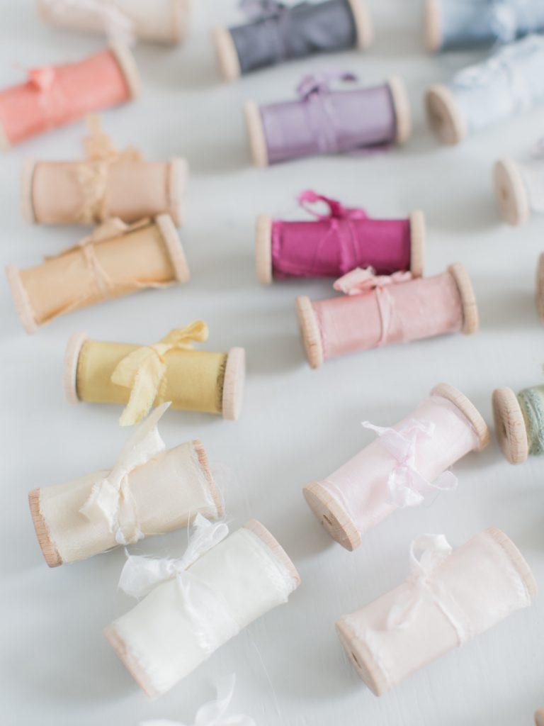 Colors La Lettre Lint atelier handgemaakte zijden linten hand dyed silk ribbon