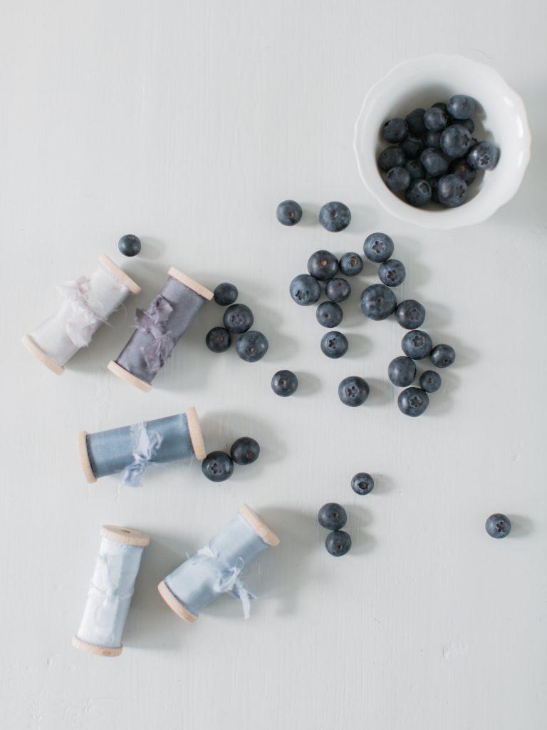 Blues Blauw La Lettre Lint atelier handgemaakte zijden linten hand dyed silk ribbon