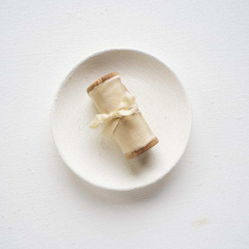 La Lettre Milk & Honey Lint atelier handgemaakte zijden linten hand dyed silk ribbon