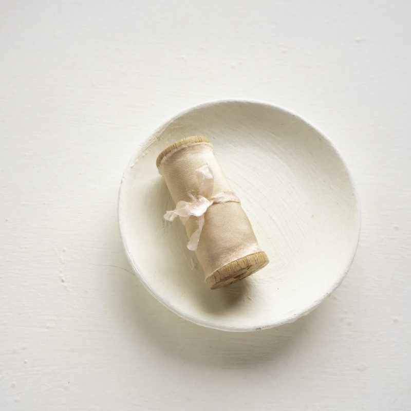 La Lettre Champagne Lint atelier handgemaakte zijden linten hand dyed silk ribbon