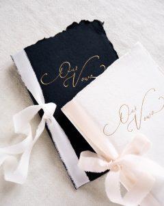 La Lettre Kalligrafie Geloftenboekjes Vow Books Zijden Linten La Lettre Lint