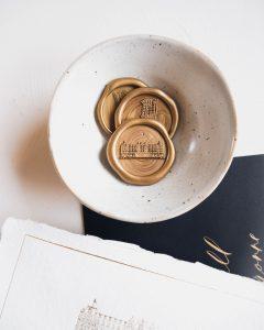 a Lettre Kalligrafie illustraties trouwlocaties Bruiloft uitnodigingen Amsterdam Amstel Hotel Lakzegel