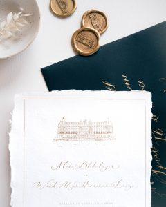 a Lettre Kalligrafie illustraties trouwlocaties Bruiloft uitnodigingen Amstel Hotel Amsterdam