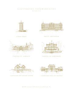 a Lettre Kalligrafie illustraties trouwlocaties Bruiloft uitnodigingen Amsterdam A'Dam Toren The Loft Amstel Hotel Chateau St. Gerlach Kasteel de Vanenburg Landgoed Het Roode Koper Huis de Voorst