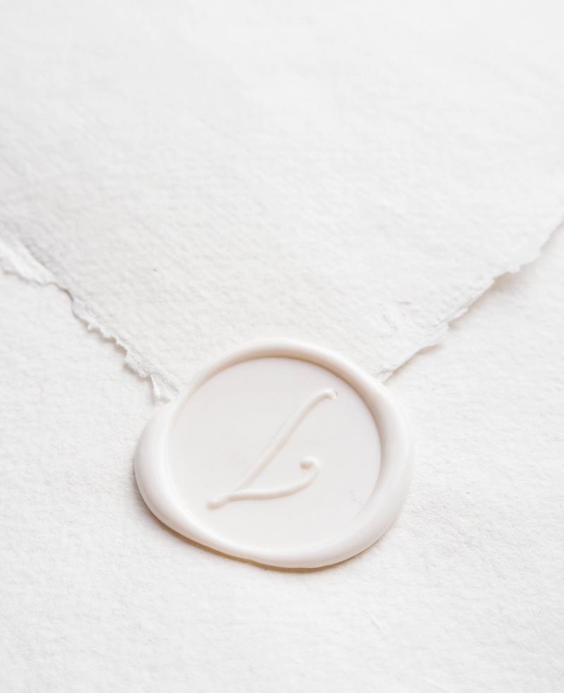 La Lettre Kalligrafie Gepersonaliseerde Lakstempel Logo Ontwerp Bedrijfslogo