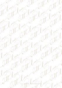 La Lettre Kalligrafie With Love free printable gift wrap