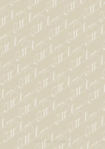 La Lettre Kalligrafie With Love free printable gift wrap