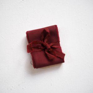 Webshop Zijden Linten Silk Ribbon La Lettre Kalligrafie Red Velvet