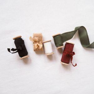 Webshop Zijden Linten Silk Ribbon La Lettre Kalligrafie Kerstcollectie
