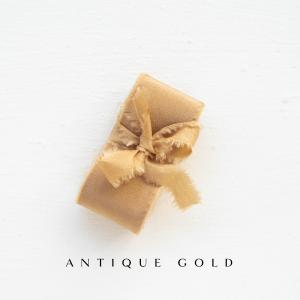 Webshop Zijden Linten Silk Ribbon La Lettre Kalligrafie Antique Gold
