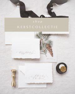 La Lettre Christmas Collection Kerstkaarten Zijden Lint Merry Christmas