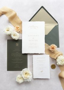 La Lettre Kalligrafie x House of Luce wedding table winter silk ribbon Cortina d'Ampezzo Italy Italie huwelijk